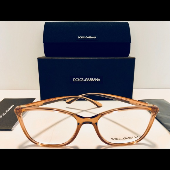 822358c4dbf Dolce   Gabbana Eyeglasses Transparent Pink New 54